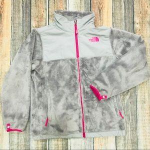 North Face Denali Jacket Zip Up Fleece Fuzzy Grey